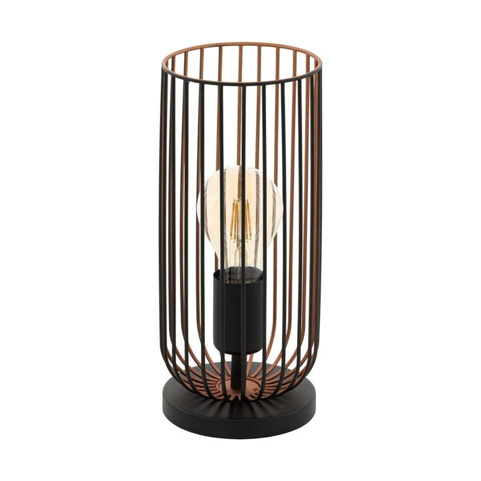 EGLO tafellamp Roccamena - zwart/koperkleurig - Leen Bakker