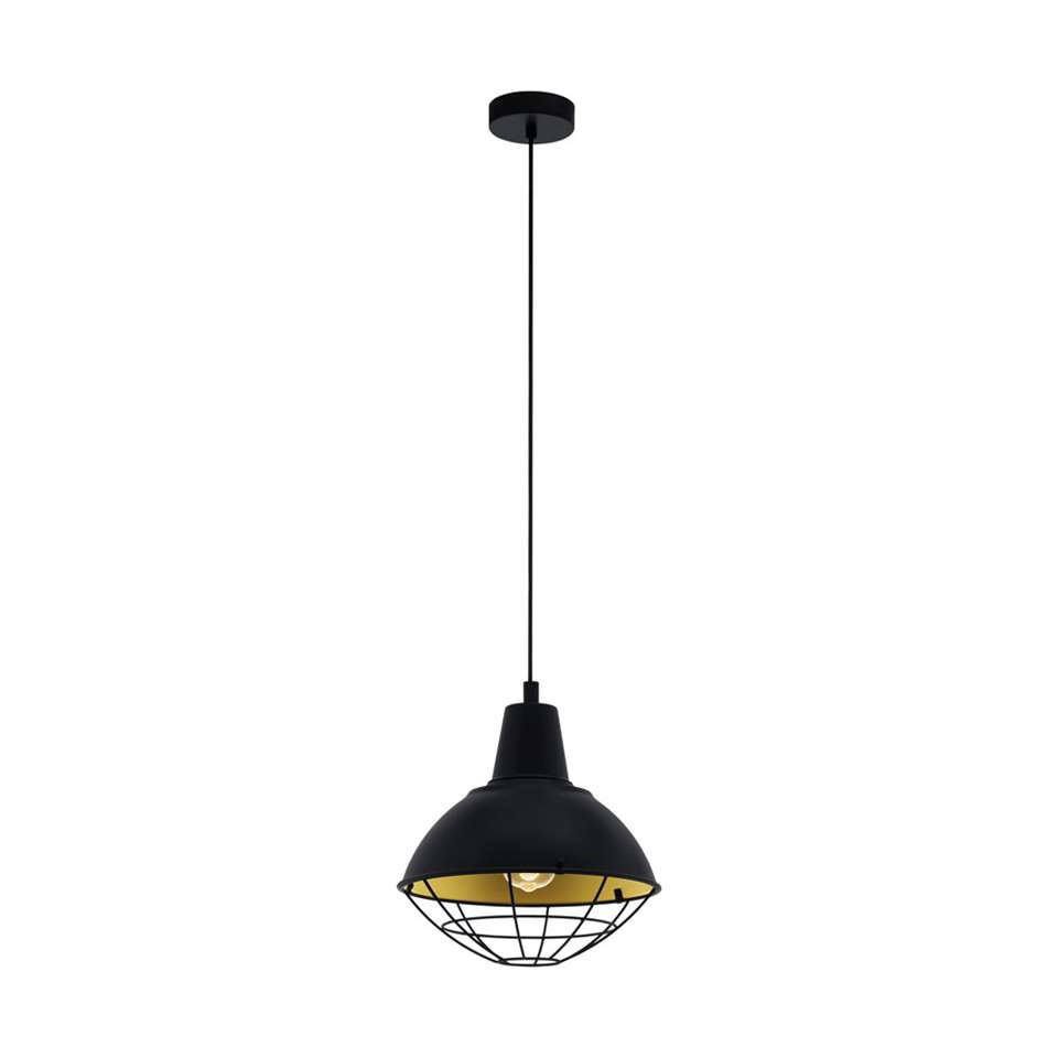 EGLO hanglamp Cannington - zwart/goudkleurig
