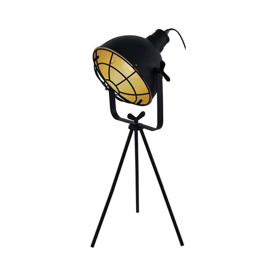 EGLO tafellamp Cannington - zwart/goudkleurig