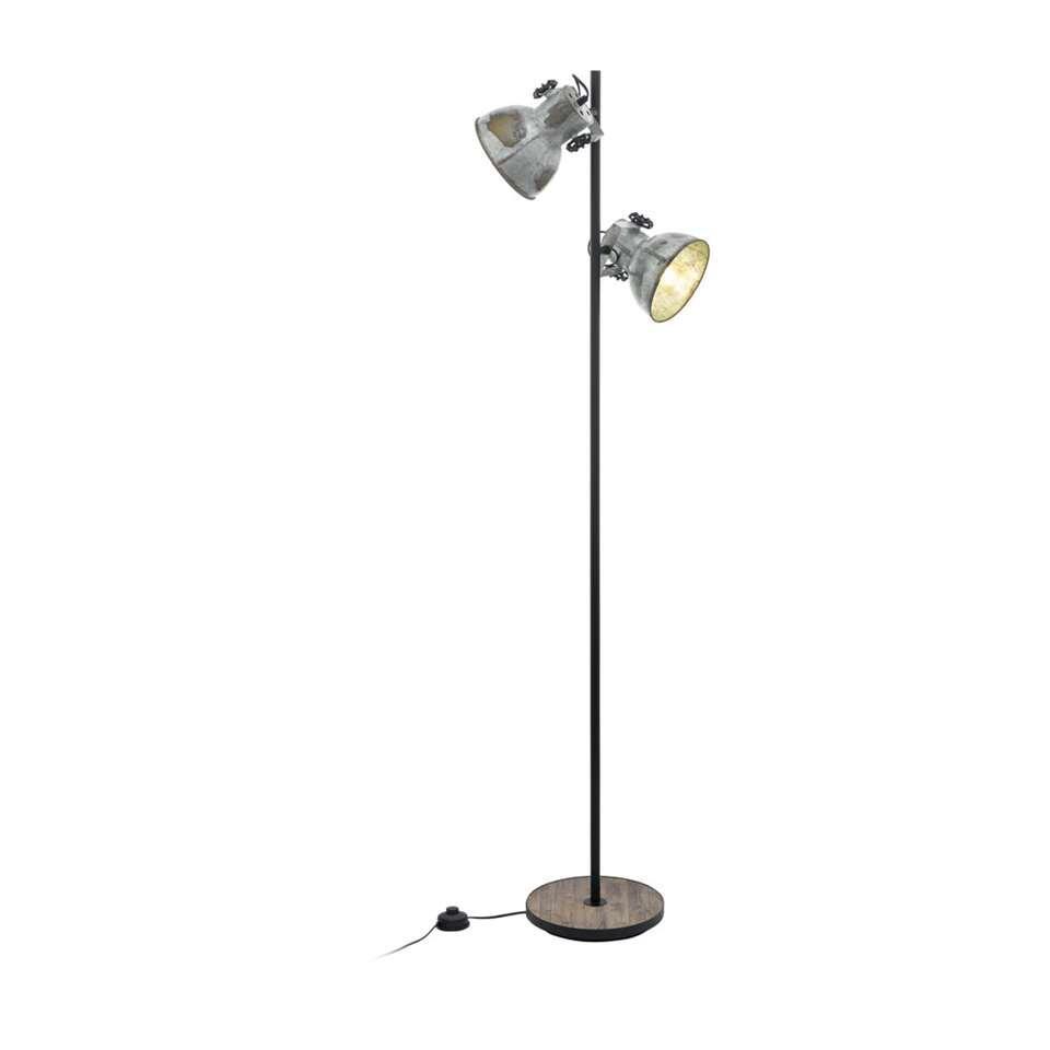 EGLO vloerlamp Barnstaple - bruin/zwart/grijs - Leen Bakker
