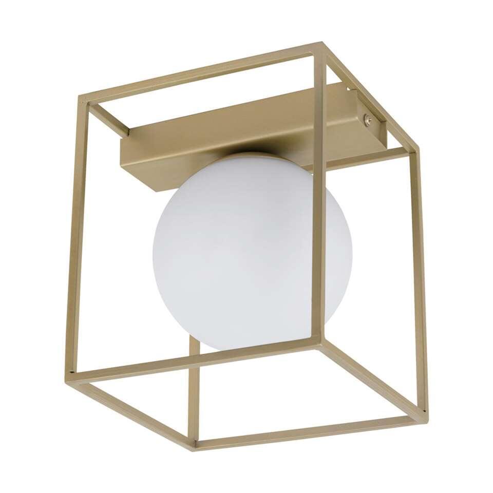 EGLO wand/plafondlamp Vallaspra - champagnekleur/wit