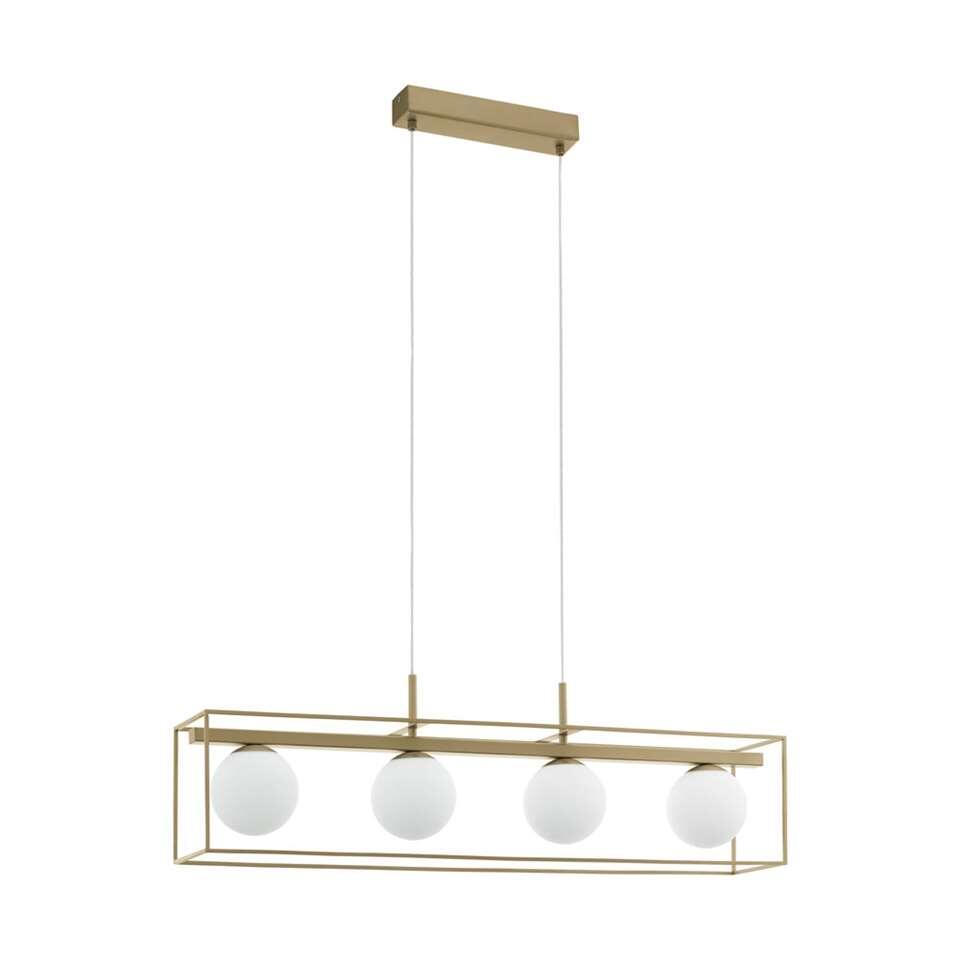 EGLO hanglamp Vallaspra - champagnekleur/wit