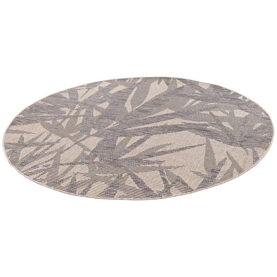 Vloerkleed Neiva - zandkleur/grijs - Ø200 cm - Leen Bakker