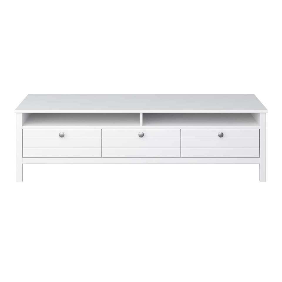 TV-meubel New Jersey - wit - 40x140x45 cm
