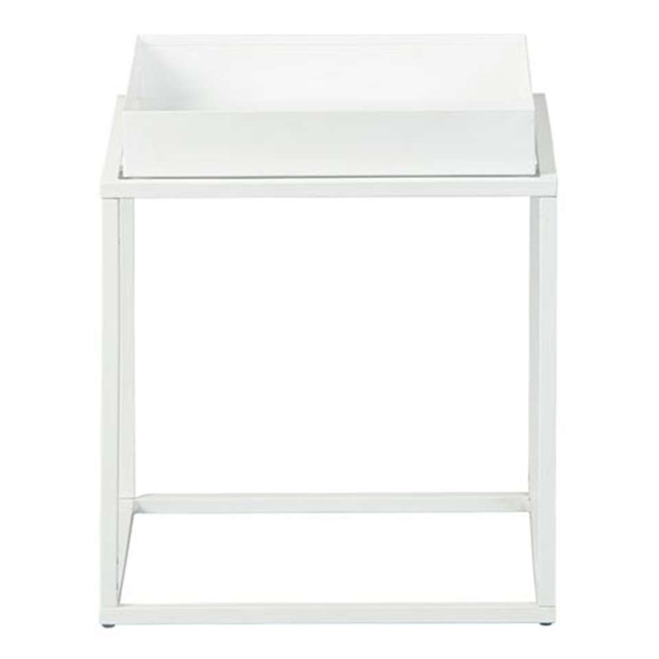 Table d'appoint Club NY - blanche - 40x35x35 cm