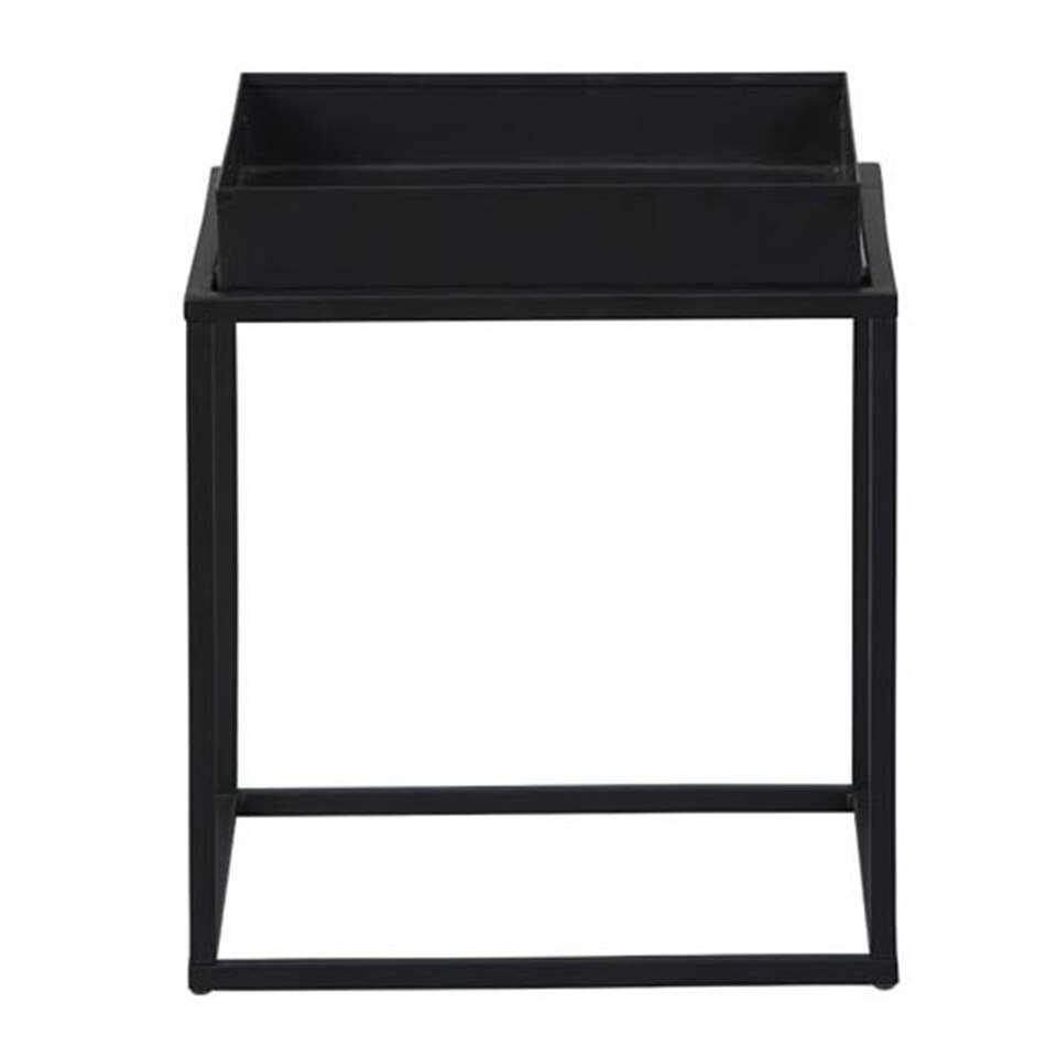 Bijzettafel Club NY - zwart - 40x35x35 cm - Leen Bakker