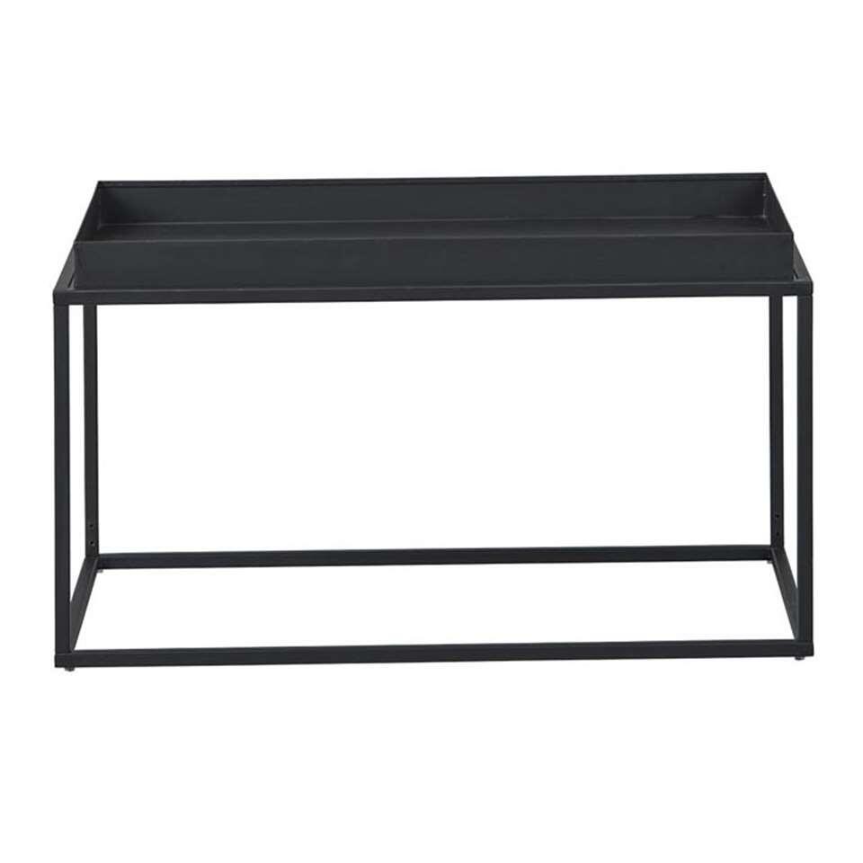 Salontafel Club NY - zwart - 45x80x45 cm - Leen Bakker