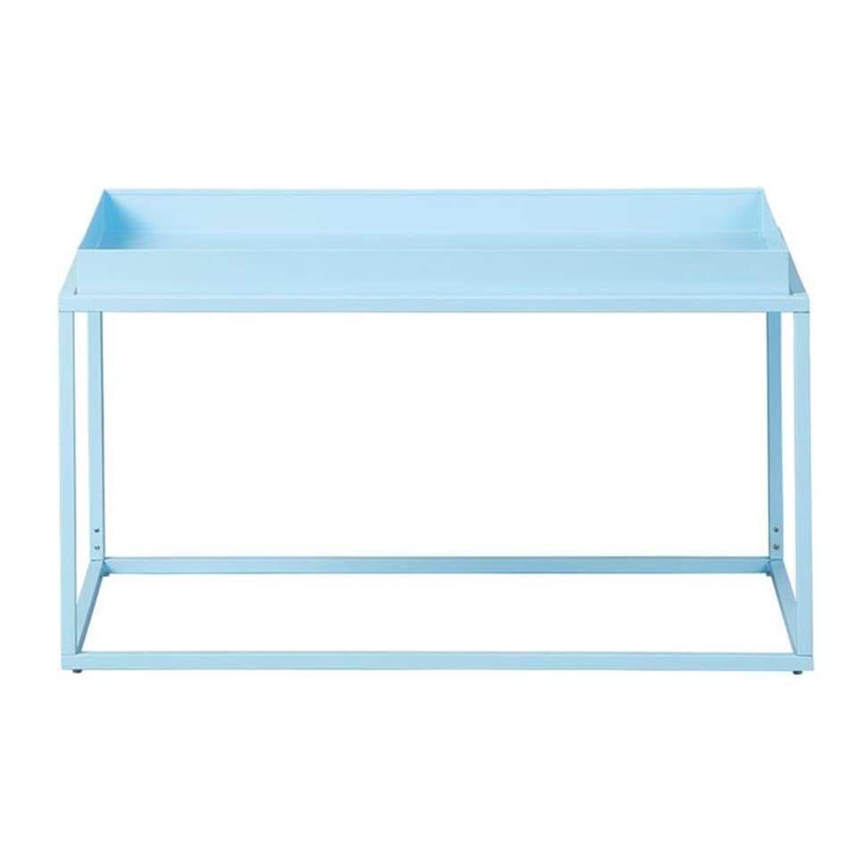 Salontafel Club NY - blauw - 45x80x45 cm - Leen Bakker