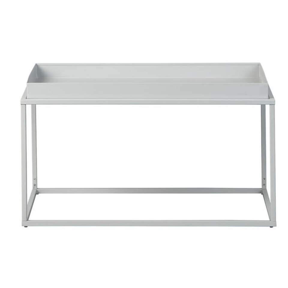 Table de salon Club NY - grise - 45x80x45 cm