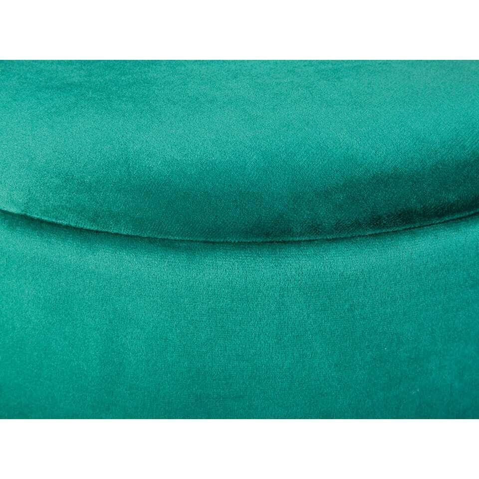 Tabouret Willandra - vert/couleur or - 38x41x41 cm