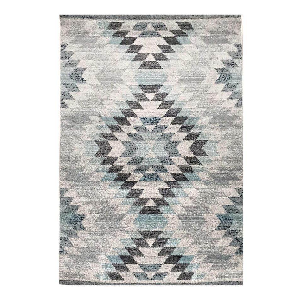 Vloerkleed Bova - grijs/blauw - 160x230 cm