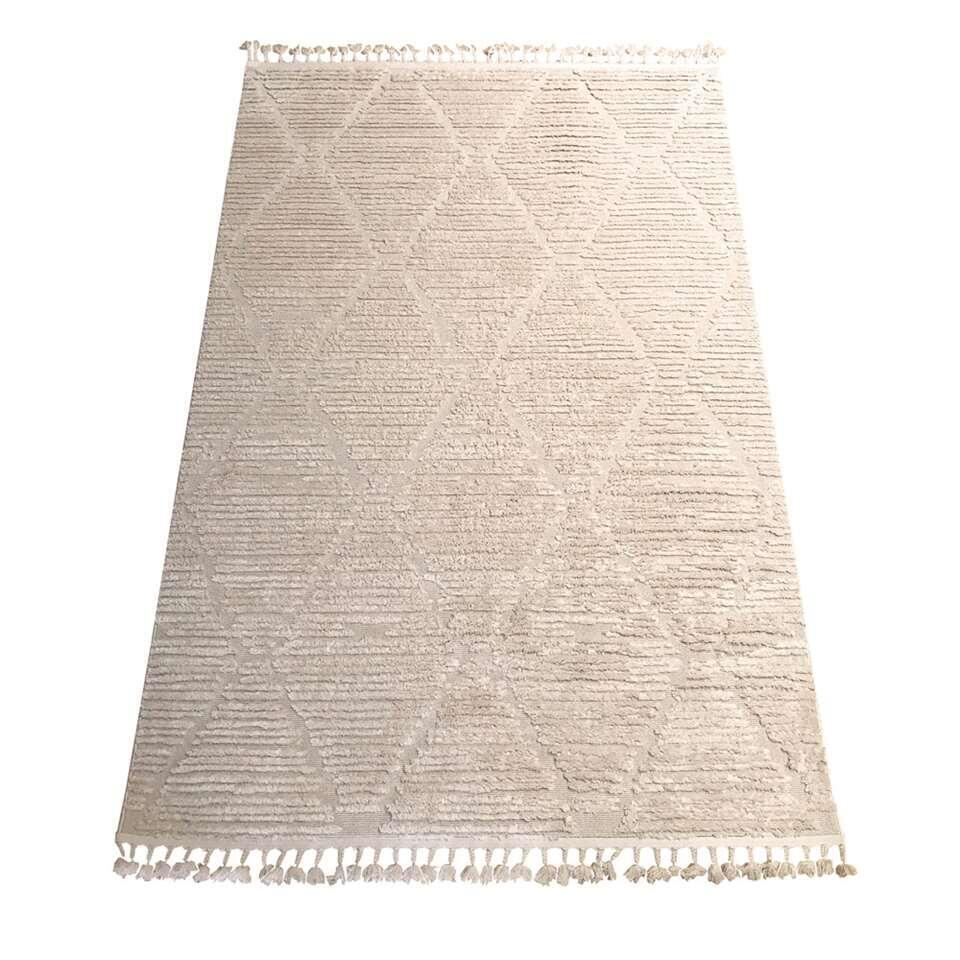 Vloerkleed Tusa - wit - 160x230 cm