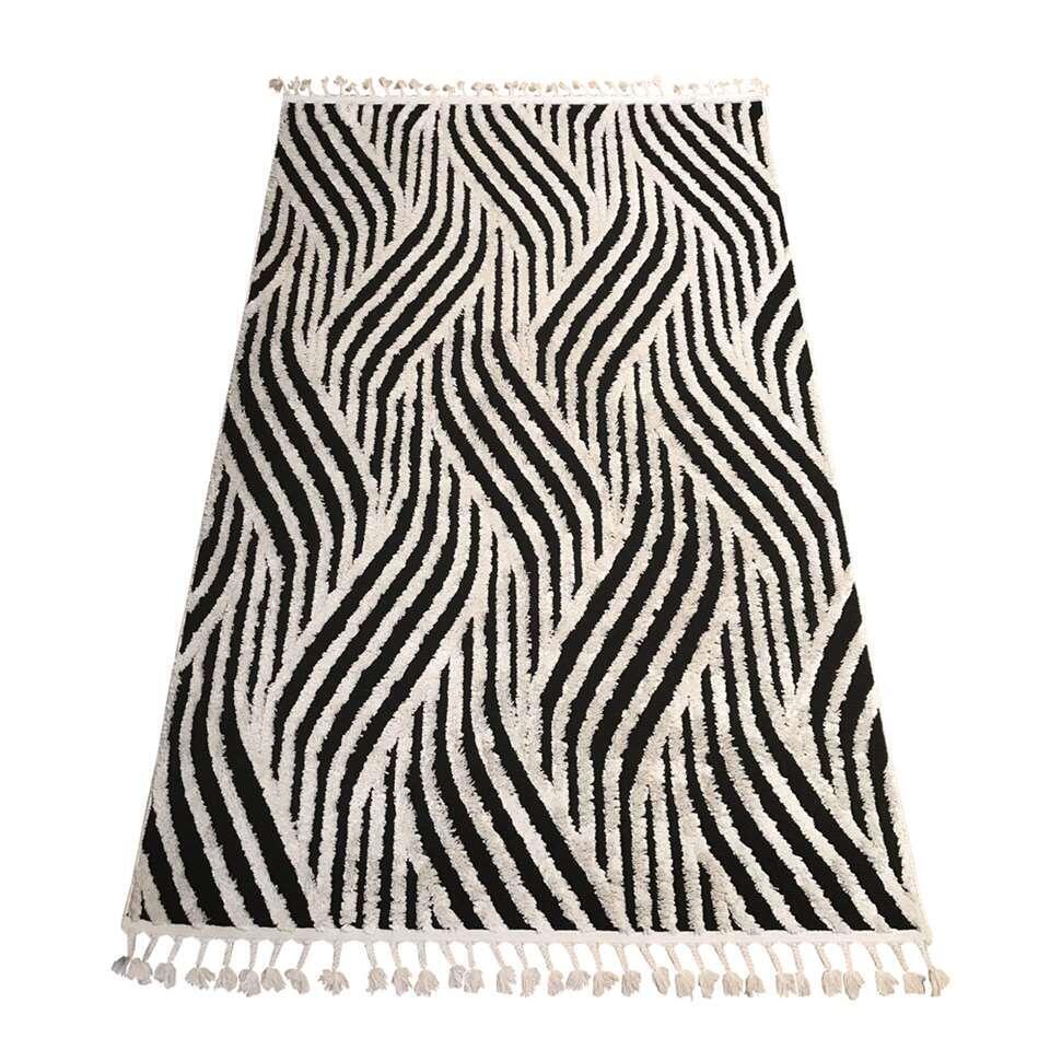 Vloerkleed Itala - antraciet/wit - 160x230 cm