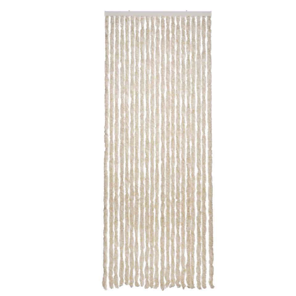 2LIF deurgordijn Matinique - beige/wit - 93x230 cm - Leen Bakker