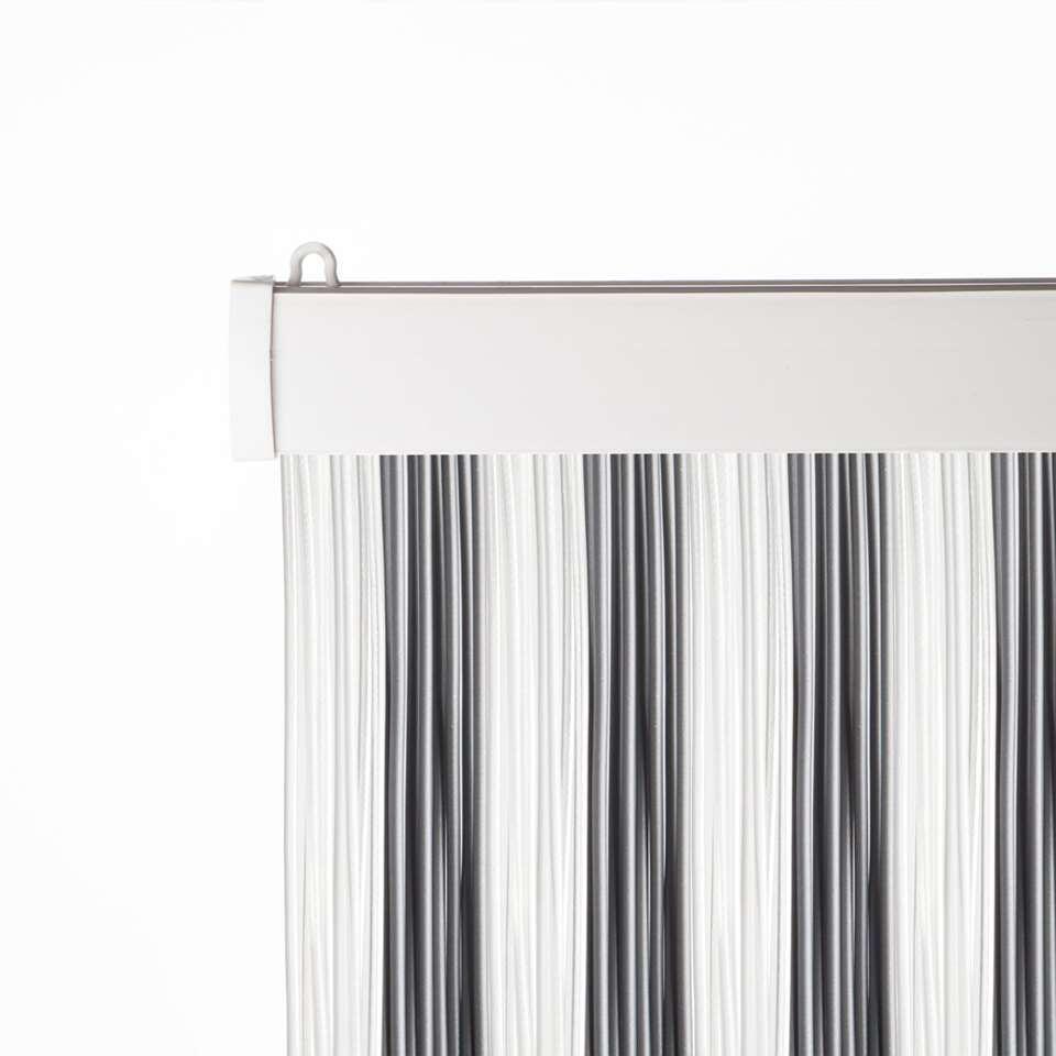 2LIF deurgordijn Bologna - grijs/wit - 93x230 cm - Leen Bakker