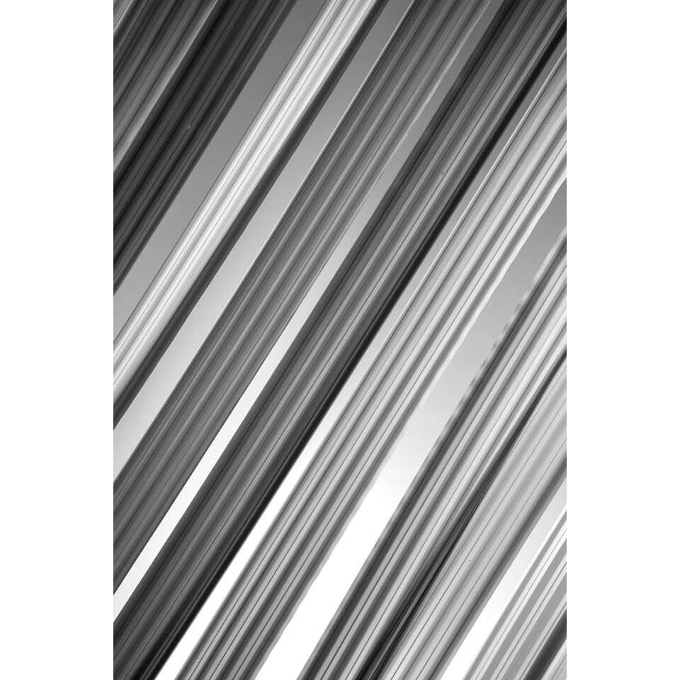 2LIF deurgordijn Aruba - zwart/wit/grijs - 90x200 cm - Leen Bakker