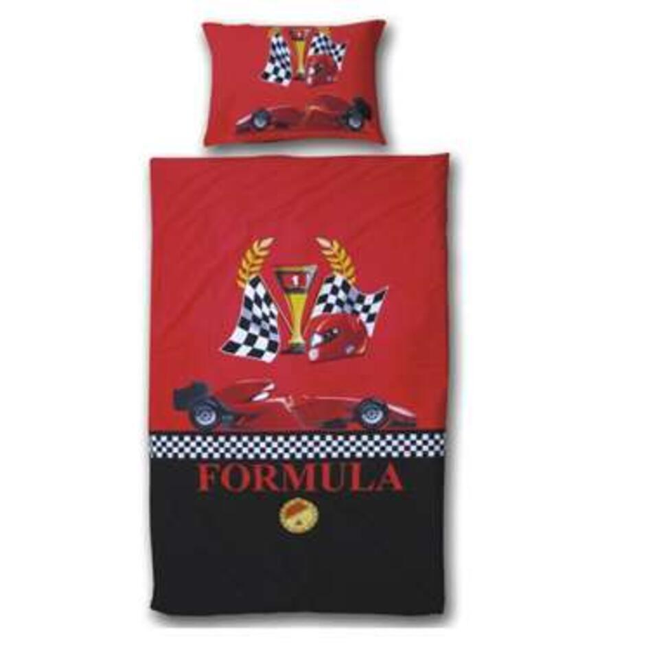 Vipack dekbedovertrek Formula 1 - rood - 140x200/220 cm
