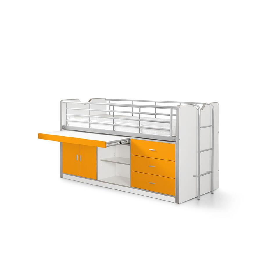 Vipack halfhoogslaper Bonny - oranje - 207x96x116 cm - Leen Bakker