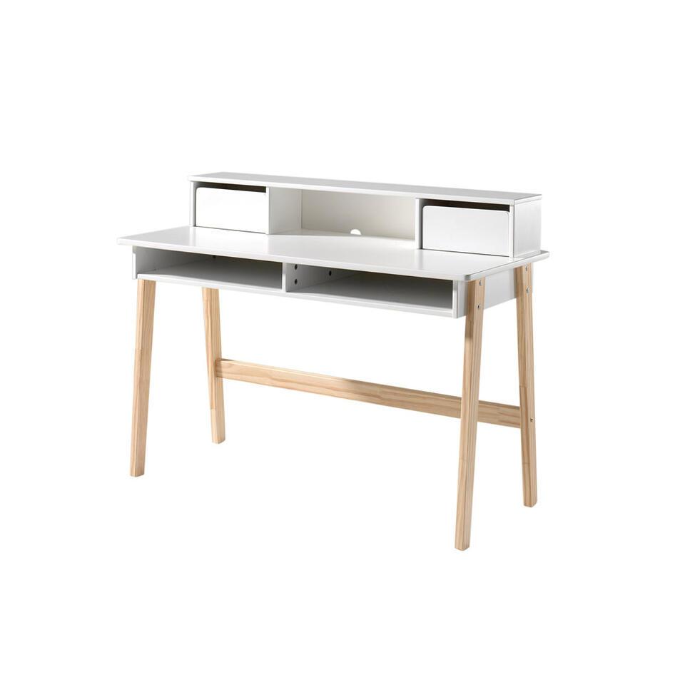 Vipack bureau Kiddy met opzet - wit - 120x55x90 cm