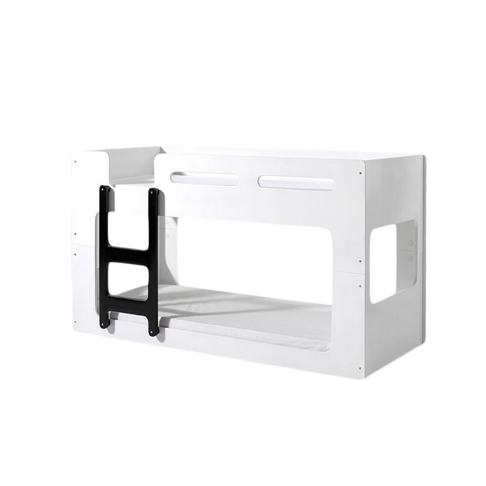 Vipack stapelbed Luca - wit/zwart - 210x90,4x106,8 cm