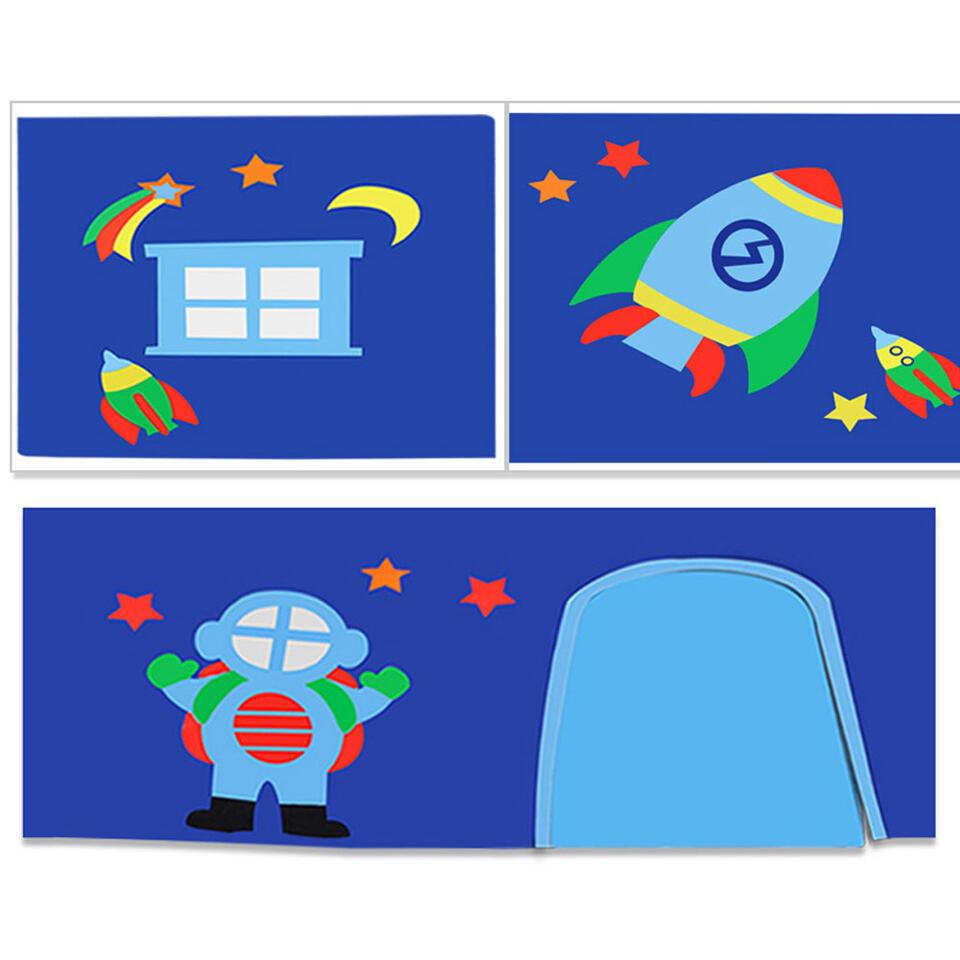 Vipack speelgordijn Astro - blauw - 235x140x0,5 cm - Leen Bakker