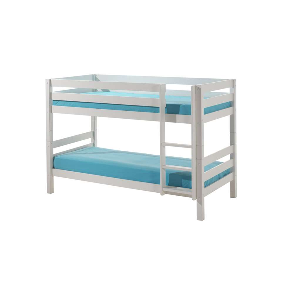 Vipack stapelbed Pino - wit - 209,4x105,4x140 cm - Leen Bakker