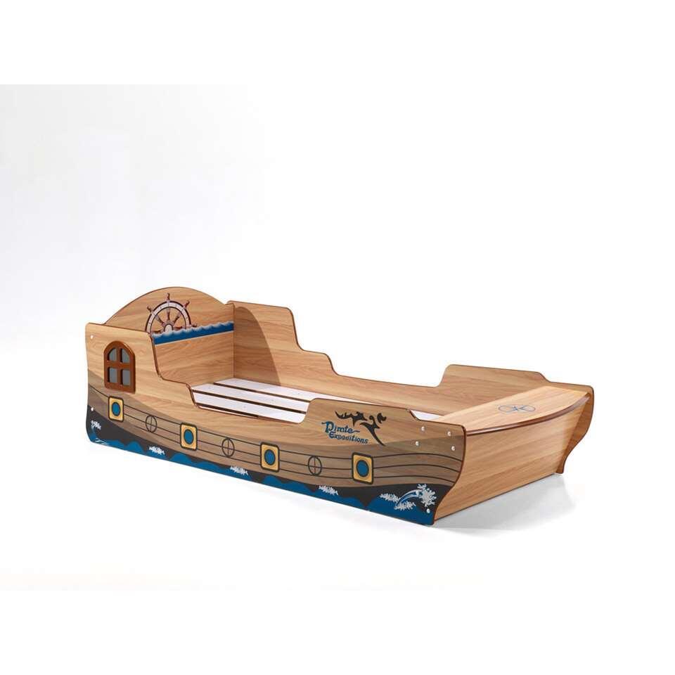 Vipack bed Pirate Boat - bruin - 232x96,2x70,6 cm - Leen Bakker