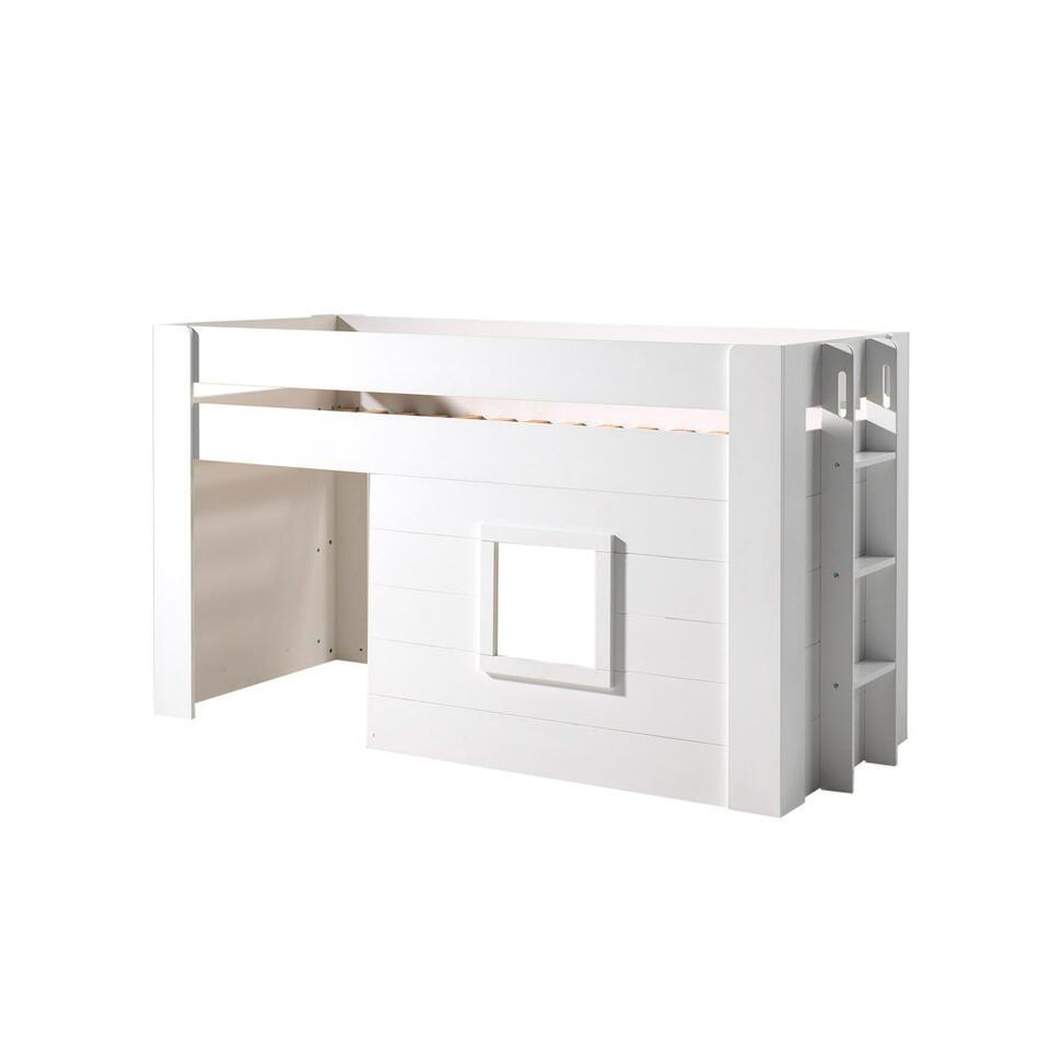 Vipack halfhoogslaper Noah - wit - 213,6x96x120,1 cm - Leen Bakker
