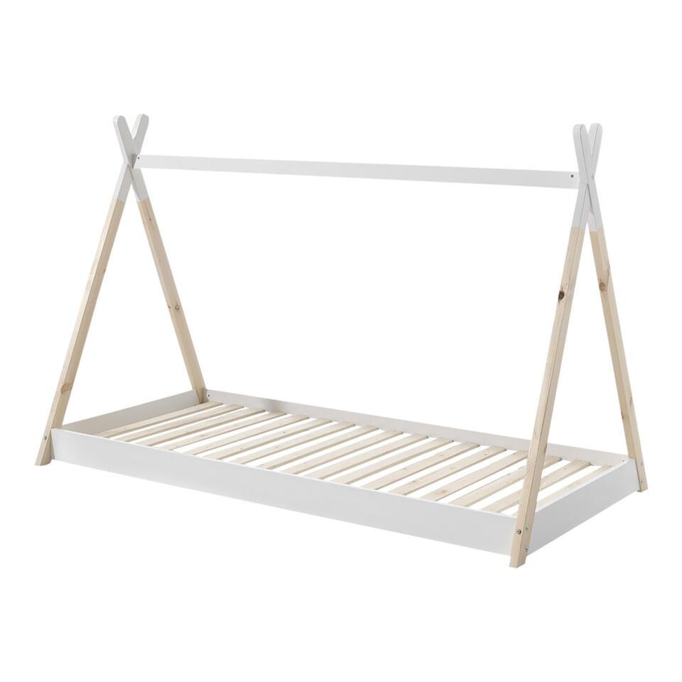 Vipack Bed Tipi - wit/naturel - 90x200 cm
