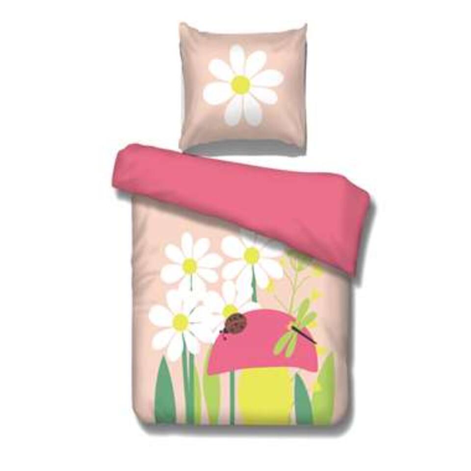Vipack dekbedovertrek Spring - roze - 140x200 cm