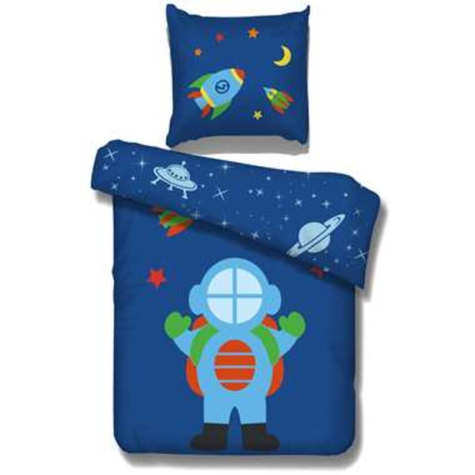 Vipack dekbedovertrek Astro - blauw - 140x200 cm - Leen Bakker