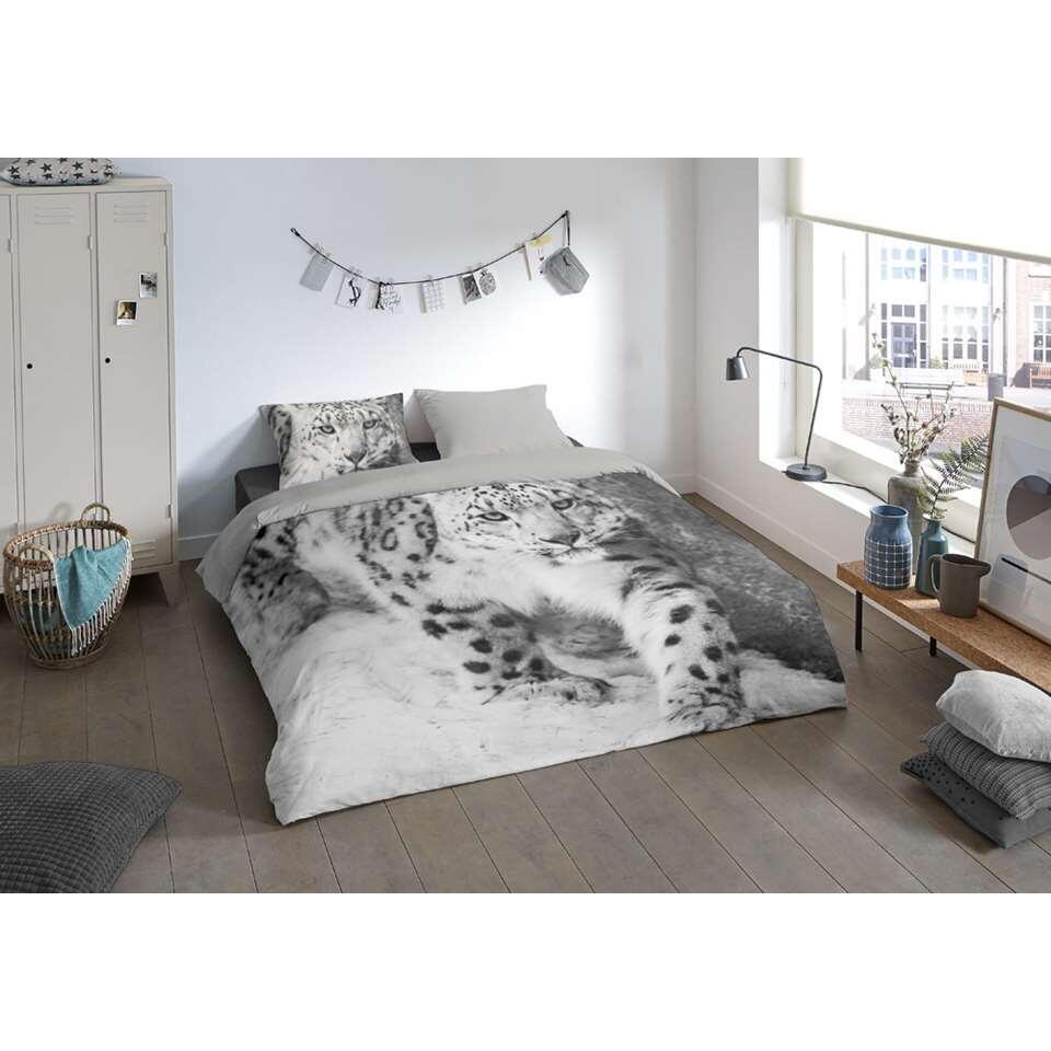 Pure dekbedovertrek Snow Leopard - grijs - 200x200/220 cm - Leen Bakker