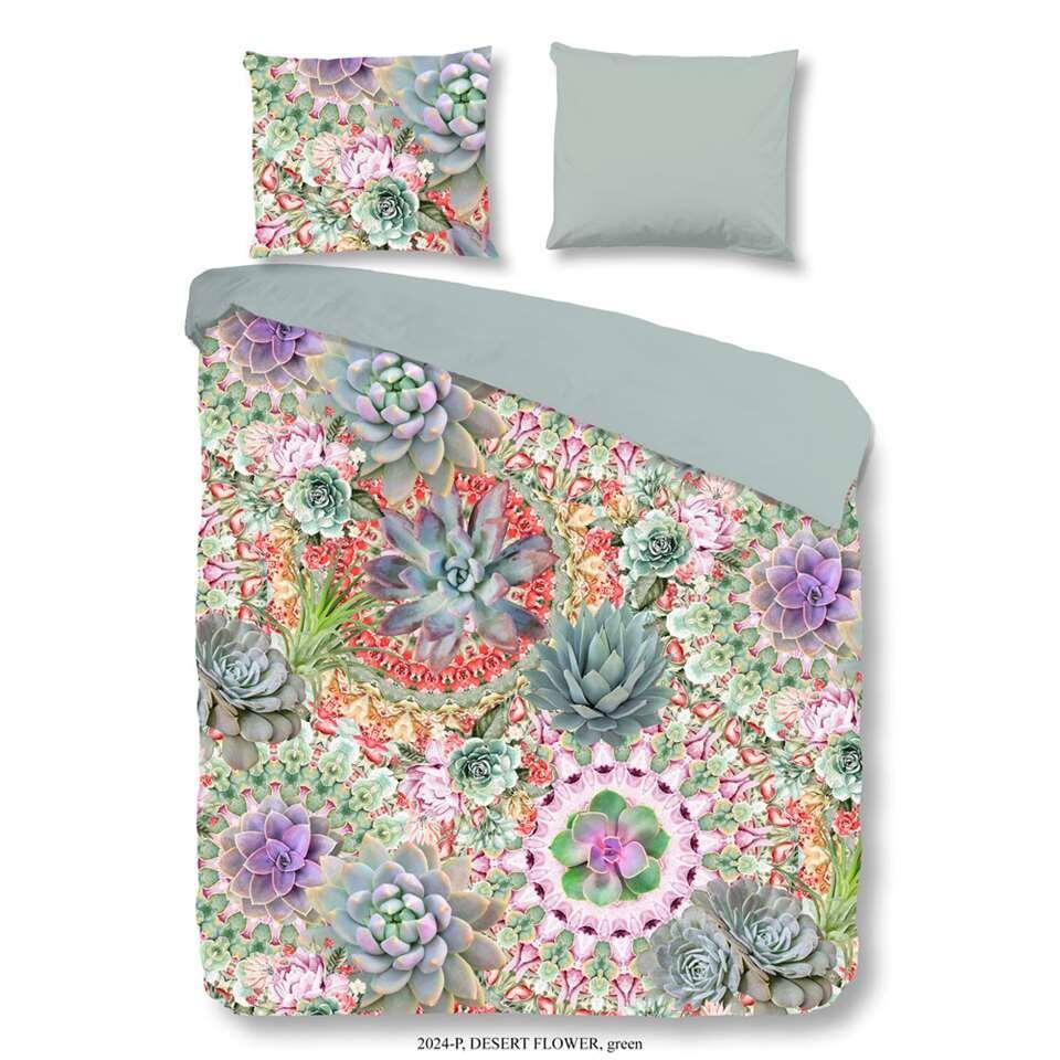Good Morning dekbedovertrek Desert Flower - multikleur - 240x200/220 cm - Leen Bakker
