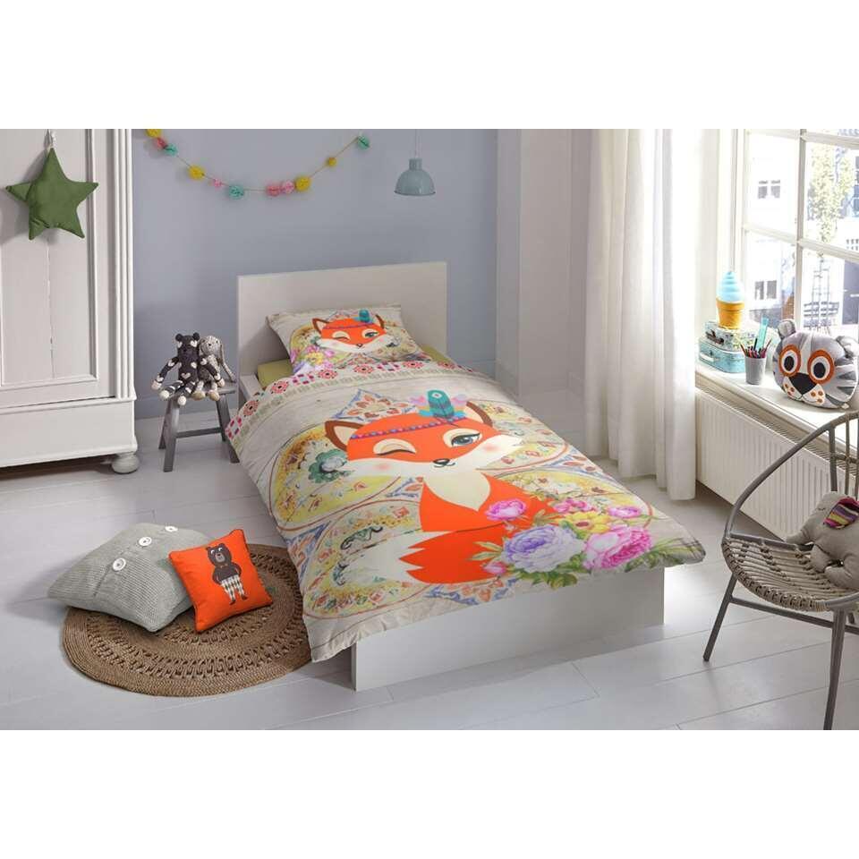 Good Morning kinderdekbedovertrek Foxy - multikleur - 140x200/220 cm - Leen Bakker