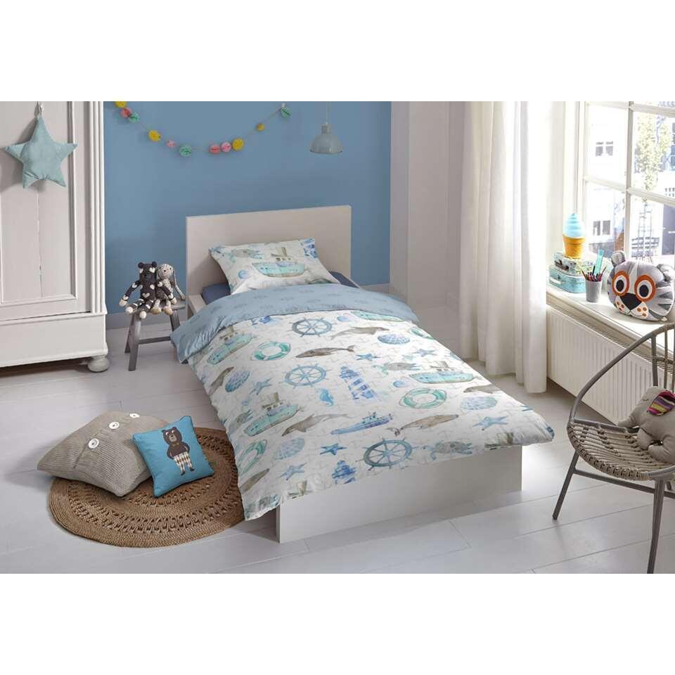 Good Morning kinderdekbedovertrek Martijn - blauw - 120x150 cm