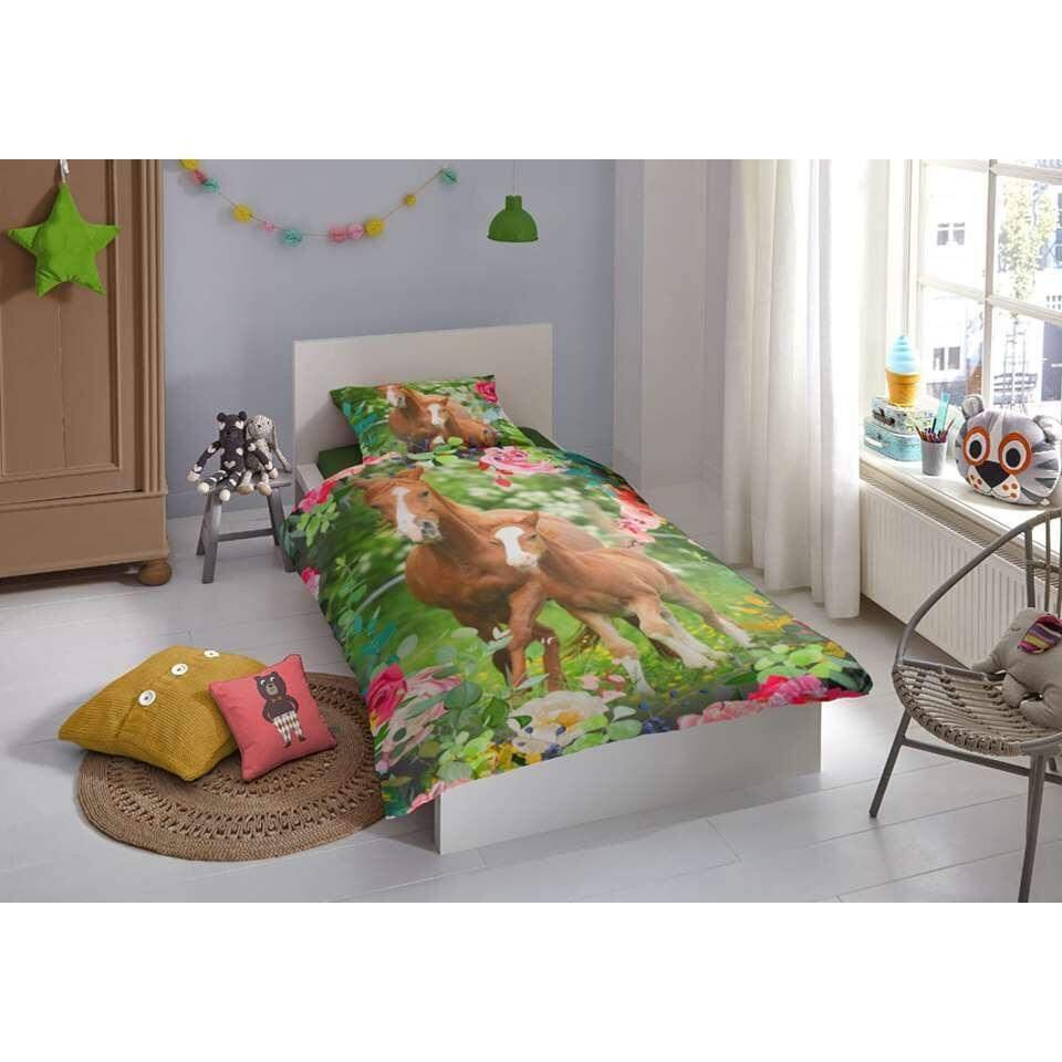 Good Morning kinderdekbedovertrek Foal - multikleur - 140x200/220 cm