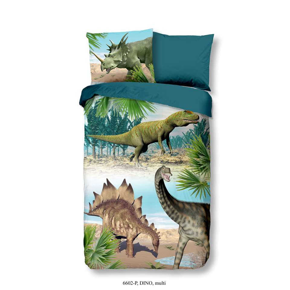Good Morning kinderdekbedovertrek Dino - multikleur - 140x200/220 cm