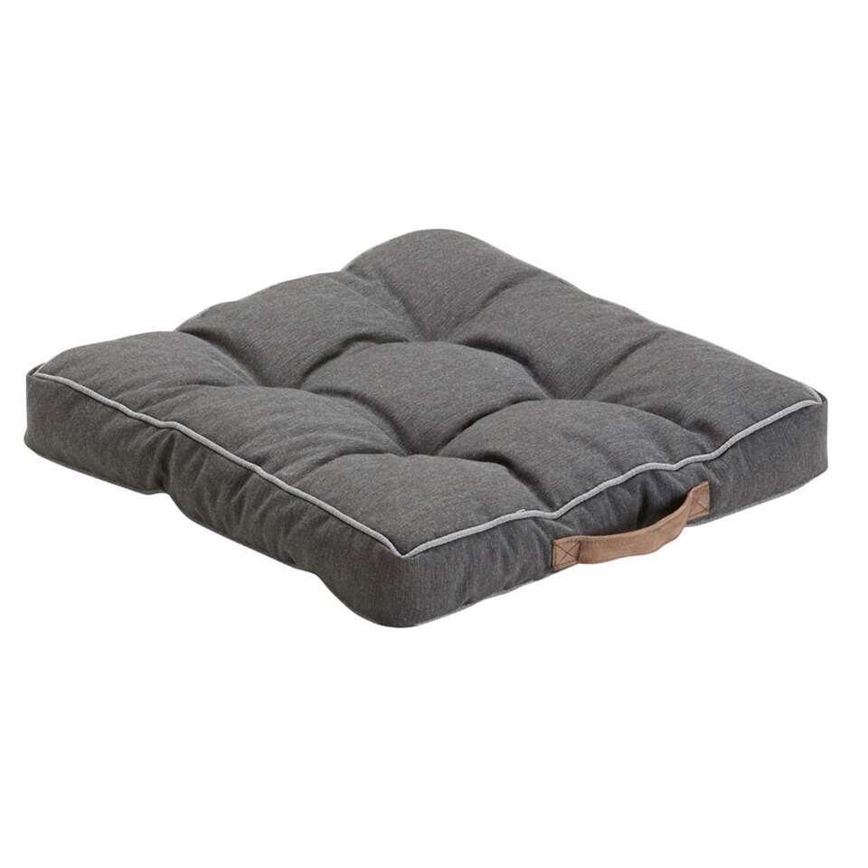 Summerset Bloemendaal matraskussen - antraciet - 50x50 cm - Leen Bakker