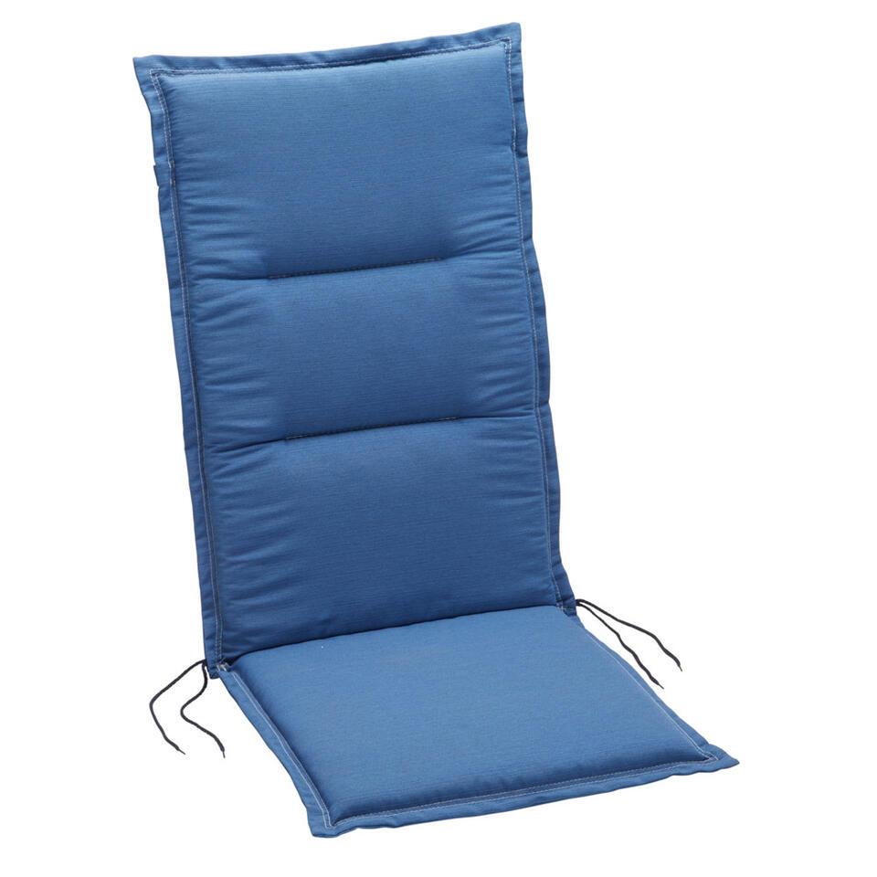 Summerset terrasstoelkussen Club - blauw - 120x50 cm - Leen Bakker