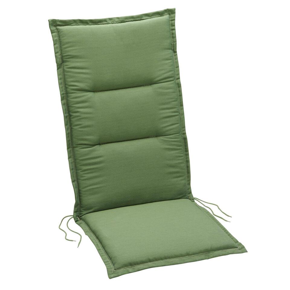 Summerset terrasstoelkussen Club - groen - 120x50 cm - Leen Bakker