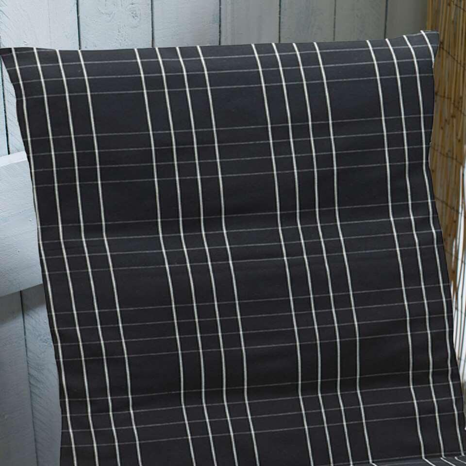 Summerset terrasstoelkussen Brighton - zwart - 120x60 cm - Leen Bakker
