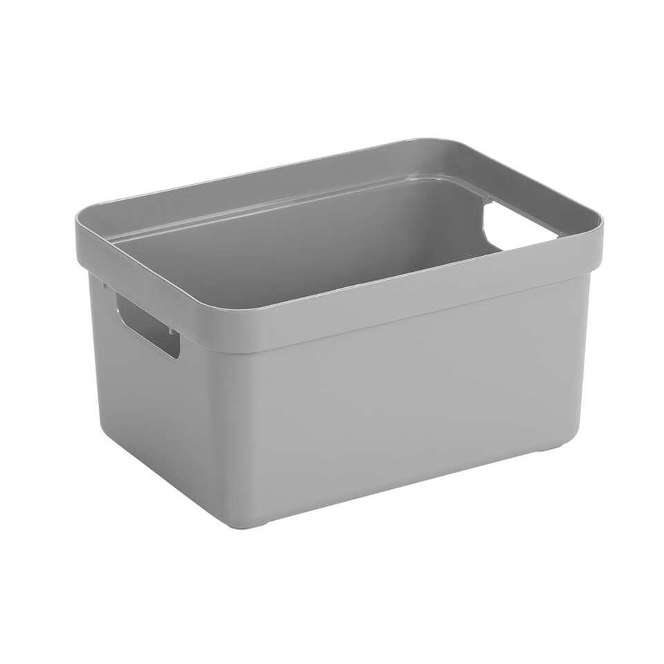 Sigma home box 13 liter - lichtgrijs - 18,3x25,3x35,2 cm - Leen Bakker