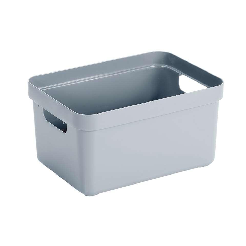 Sigma home box 13 liter - blauwgrijs - 18,3x25,3x35,2 cm - Leen Bakker