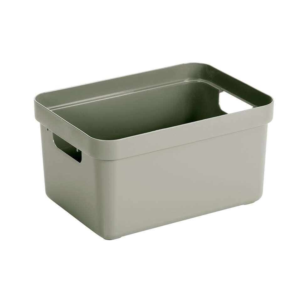 Sigma home box 13 liter - lichtgroen - 18,3x25,3x35,2 cm - Leen Bakker