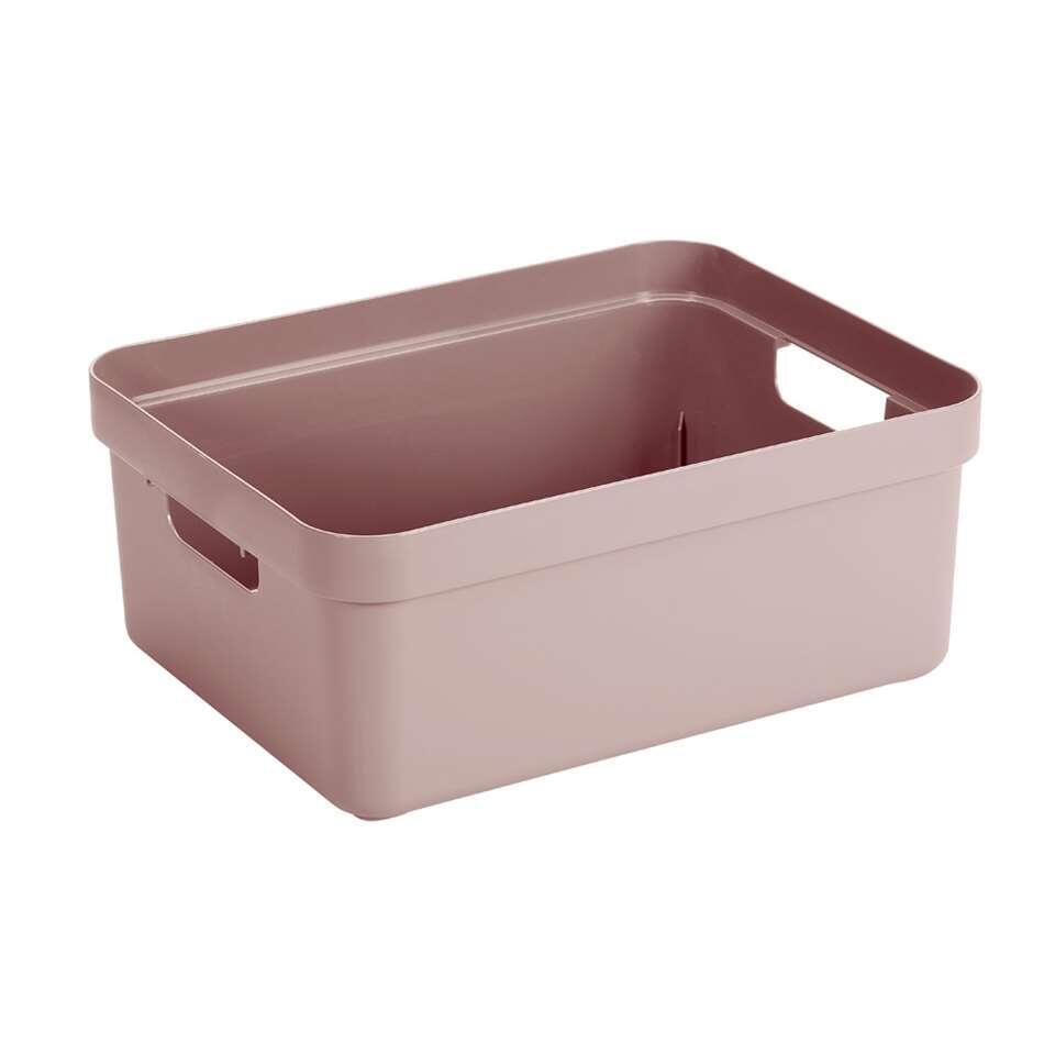 Sigma home box 24 liter - roze - 18,3x35,4x45,3 cm - Leen Bakker