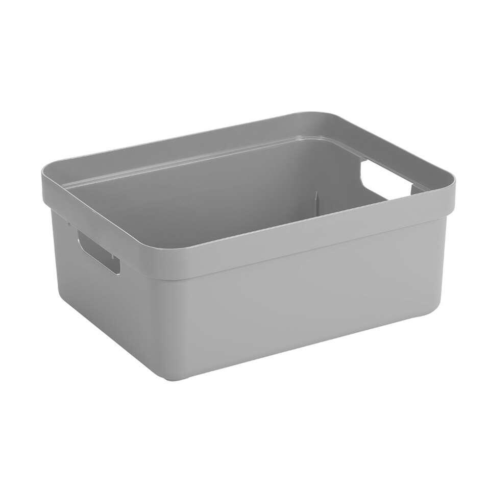 Sigma home box 24 liter - lichtgrijs - 18,3x35,4x45,3 cm - Leen Bakker