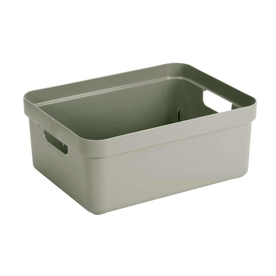 Sigma home box 24 liter - lichtgroen - 18,3x35,4x45,3 cm - Leen Bakker