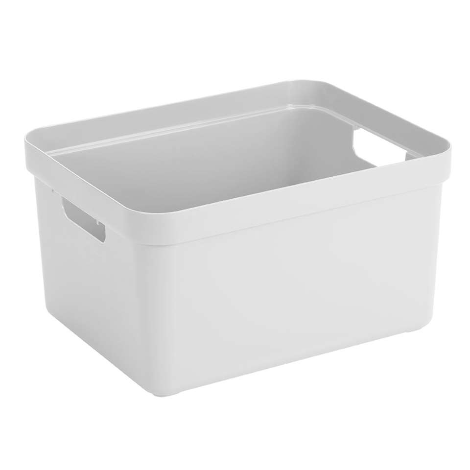 Sigma home box 32 liter - wit - 24,3x35,4x45,3 cm - Leen Bakker