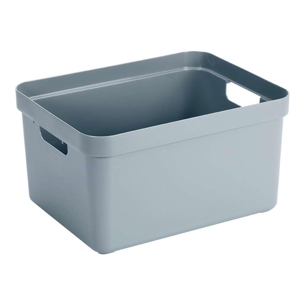 Sigma home box 32 liter - blauwgrijs - 24,3x35,4x45,3 cm