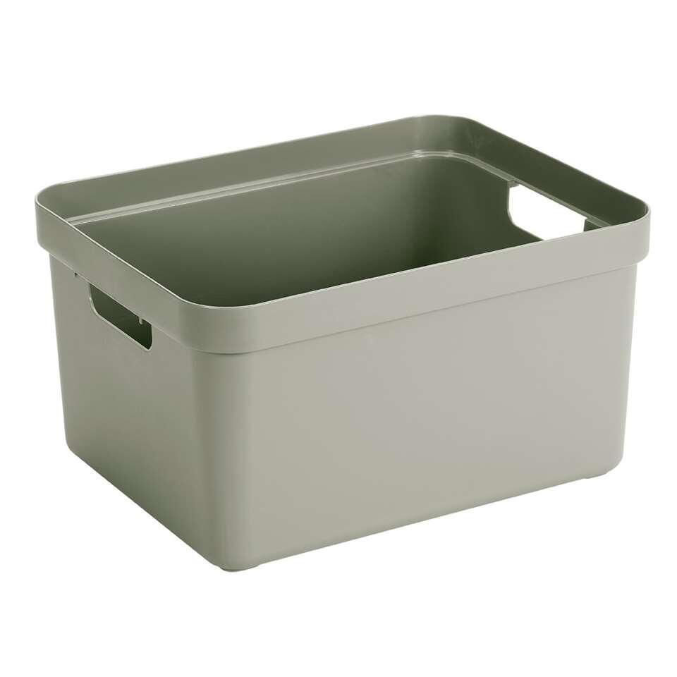 Sigma home box 32 liter - lichtgroen - 24,3x35,4x45,3 cm - Leen Bakker